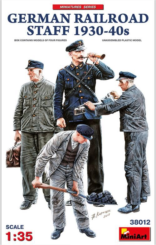 MiniArt 38012 German Railroad Staff 1930-40s