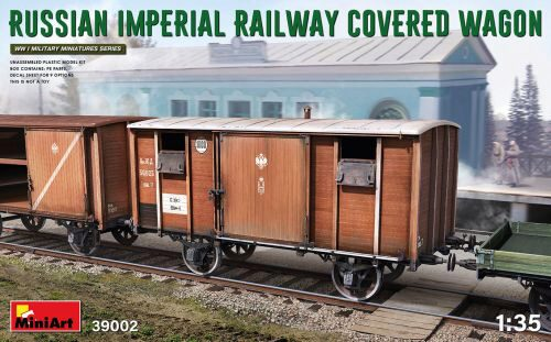 MiniArt 39002 Russian Imperial Railway Covered Wagon