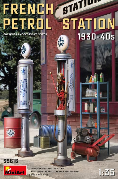 MiniArt 35616 French Petrol Station 1930-40S