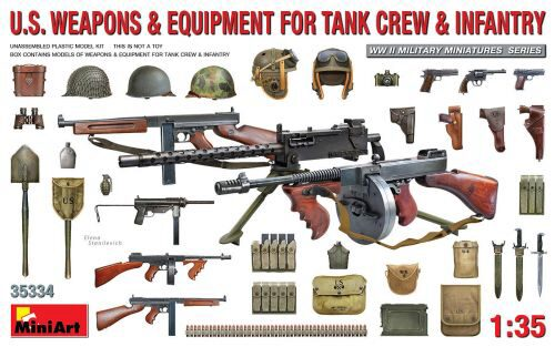 MiniArt 35334 U.S. Weapons & Equipment for Tank Crew & Infantry