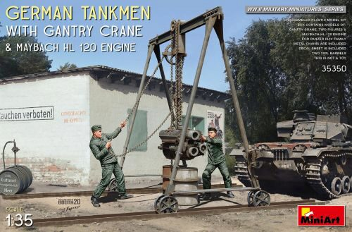 MiniArt 35350 German Tankmen with Gantry Crane & Maybach HL 120 Engine