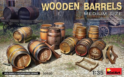 MiniArt 35630 Wooden Barrels. Medium Size