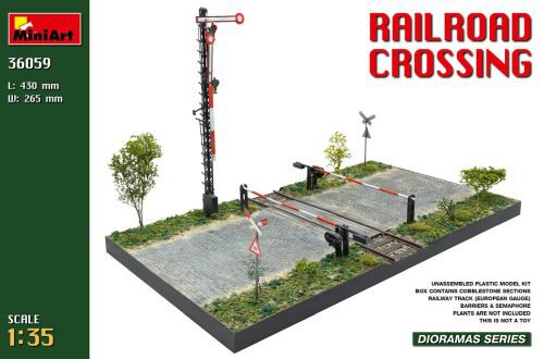 MiniArt 36059 Railroad Crossing