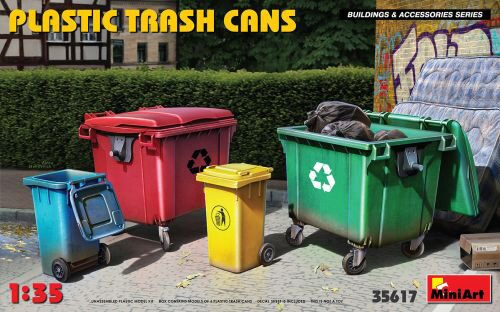 MiniArt 35617 Plastic Trash Cans