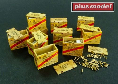 Plus model AL3004 US ammunition boxes with cartons of charges 26. Division Volksgrenadier - 101. Division