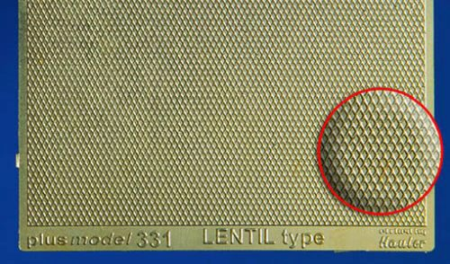 Plus model 331 Engraved plate - Lentil type