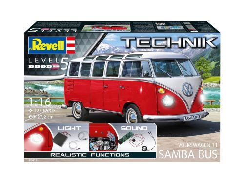 "Revell 00455 Volkswagen T1""Samba Bus""-Technik in 1:16"