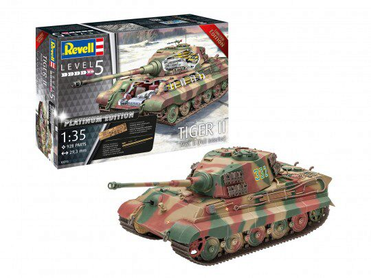 Revell 03275 Tiger II Ausf. B full interior Platinum Edition