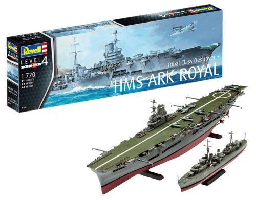 Revell 05149 HMS Ark Royal &amp: Tribal Class Destroyer