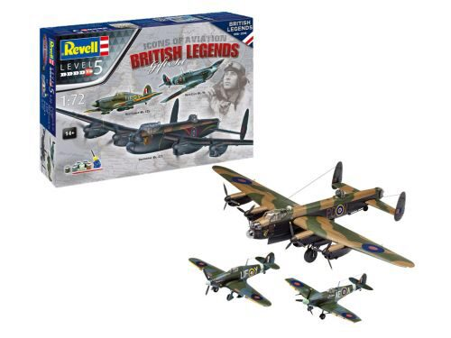 Revell 05696 100 Years RAF: Gift Set Flying Legends