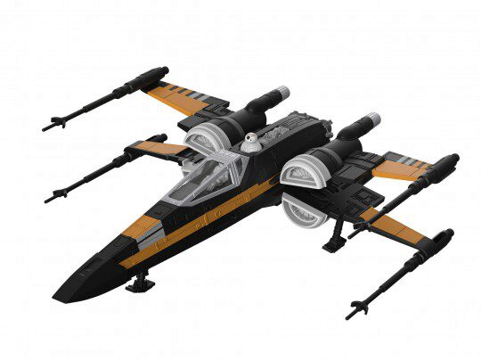 Revell 06763 Star Wars Build &Play Poes Boosted X-wing Fighter