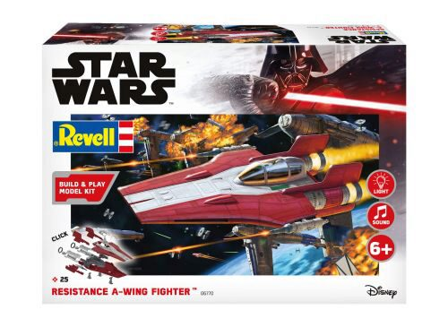 Revell 06770 Resistance A-wing Fighter, red