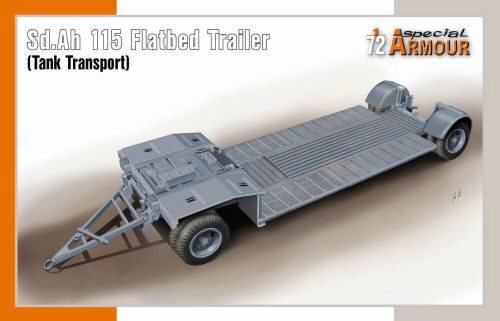 Special Hobby SA72022 Sd.Ah 115 Flatbed Trailer (Tank Transport)