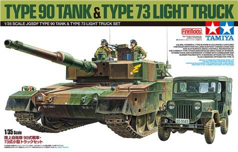 Tamiya 25186 JGSDF Type 90 & Type 73 Light Truck Set