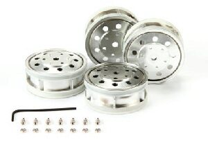 Tamiya 56518 Metal-Plated Rear Wheels (22mm/matt)