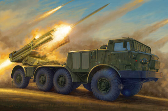 Trumpeter 01026 Russian 9P140 TEL of 9K57 Uragan Multipl Launch Rocket System