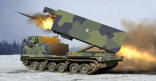 Trumpeter 01047 M270/A1 Multiple Launch Rocket System- Finland/Netherlands