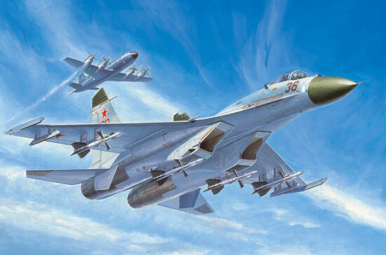 Trumpeter  01661 1/72 Su-27 Early Type Fighter