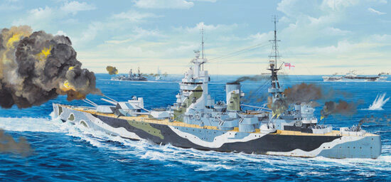 Trumpeter 03708 1/200 HMS Nelson 1944