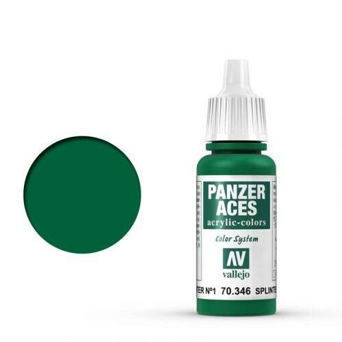Vallejo 70346 Panzer Aces Splittertarnung Flecken I, 17ml