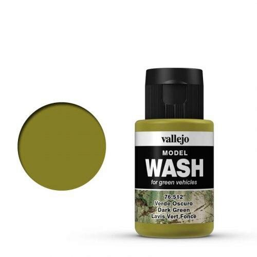 Vallejo 76512 Wash-Color, Dunkelgrün, 35 ml