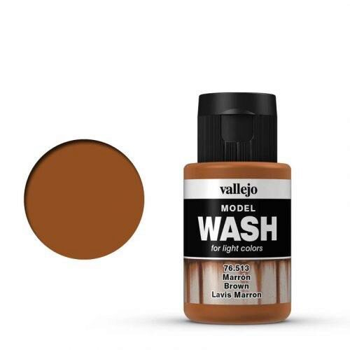 Vallejo 76513 Wash-Color, Braun, 35 ml