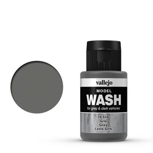Vallejo 76516 Wash-Color, Grau, 35 ml