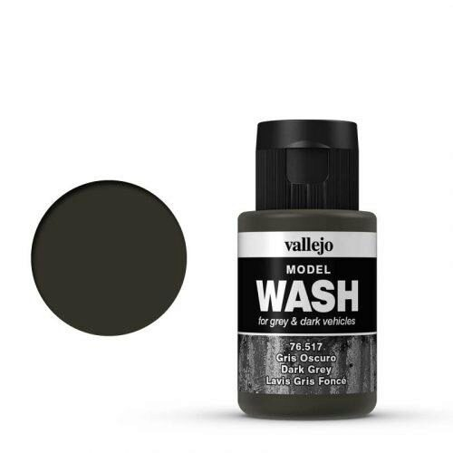 Vallejo 76517 Wash-Color, Dunkelgrau, 35 ml
