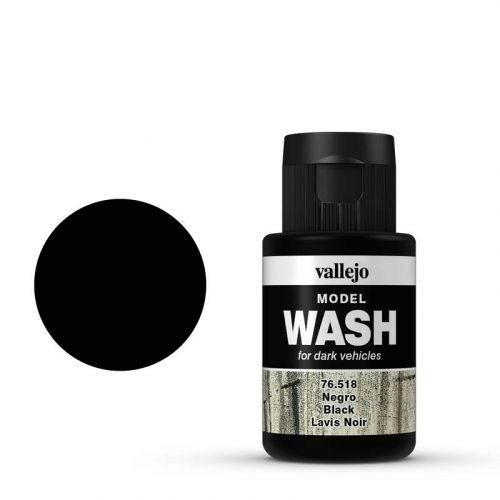 Vallejo 76518 Wash-Color, Schwarz, 35 ml