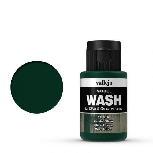 Vallejo 76519 Wash-Color, Olivgrün, 35 ml