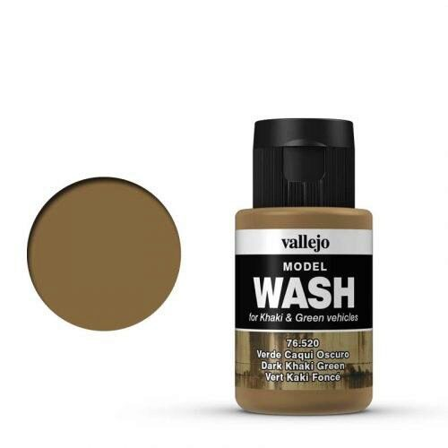 Vallejo 76520 Wash-Color, Dunkles Khakigrün, 35 ml