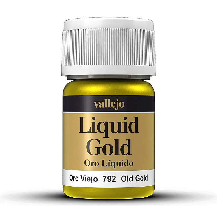 Vallejo 70792 Model Color Altgold, auf Alkohol-Basis, Metallic, 35 ml