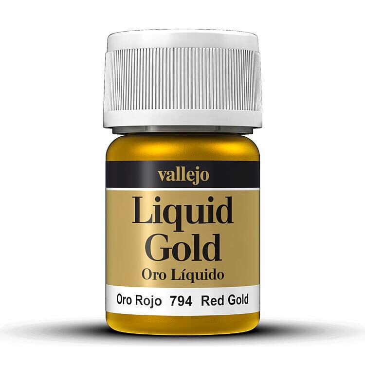 Vallejo 70794 Model Color Rotgold, auf Alkohol-Basis, Metallic, 35 ml