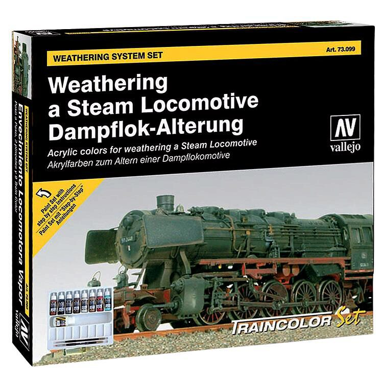 Vallejo 73099 Farb-Set, Alterung einer Dampflokomotive, 9 x 17 ml