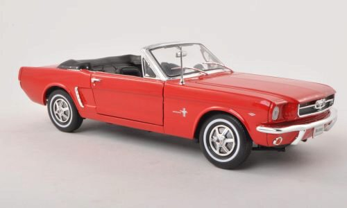 Welly 130642 Ford Mustang Cabriolet rot offen