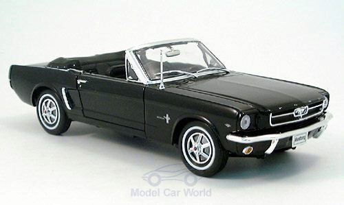 Welly 130643 Ford Mustang Cabriolet schwarz offen