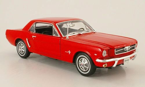 Welly 135974 Ford Mustang Coupe rot