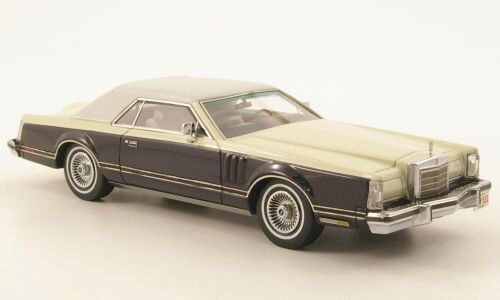 NEO 151553 Lincoln Continental Mark V dkl.-blau/creme/weiss