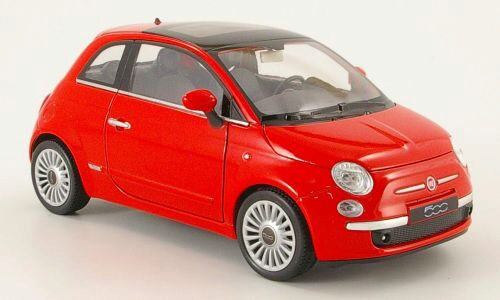 Welly 159558 Fiat 500 rot