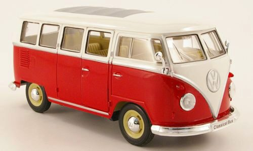 Welly 162642 VW T1 Bus rot/weiss