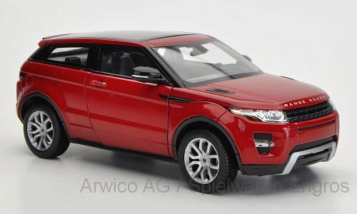 Welly 182676 Land Rover Range Rover Evoque, dkl.-rot