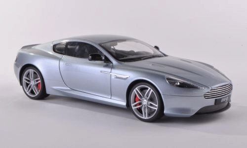 Welly 188022 Aston Martin DB9 Coupe silber LHD