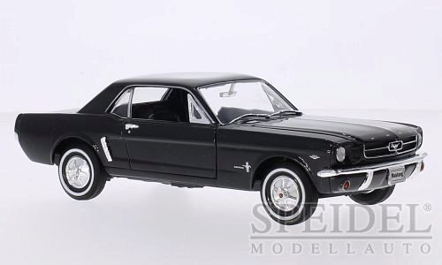 Welly 210387 Ford Mustang Coupe, schwarz