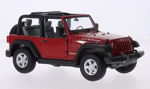 Welly 211480 Jeep Wrangler offen, rot