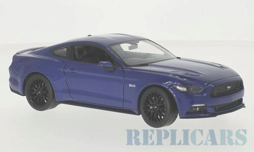 Welly 214614 Ford Mustang GT, metallic-blau