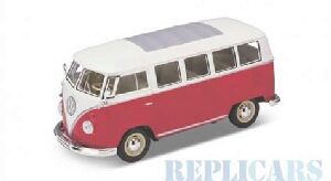 Welly 214949 VW T1 Bus Low Rider, rot
