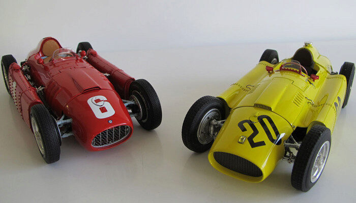 CMC M-184 Bundle Ferrari D50, (yellow) GP Belgium #20 A. Pilette + Lancia D50 (red) GP Turin #6 Ascari, Limited Edition 1,000 pcs.