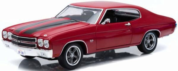 Greenlight 12945 1970 Chevy Chevelle SS red w/black stripes