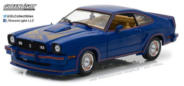 Greenlight 13507 Ford Mustang II King Cobra, Blue, Red and Gold