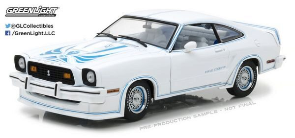Greenlight 13508 Ford Mustang II King Cobra, Blue, White and Blue